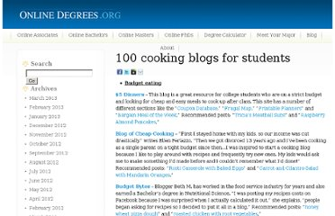 http://www.onlinedegrees.org/100-cooking-blogs-for-students/
