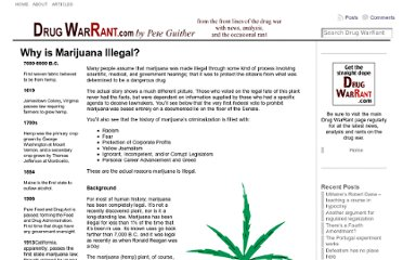 http://www.drugwarrant.com/articles/why-is-marijuana-illegal/