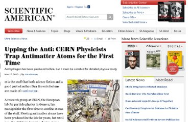 http://www.scientificamerican.com/article.cfm?id=antimatter-confined