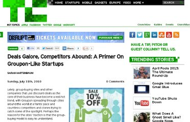 http://techcrunch.com/2010/07/11/groupon-competitors-guide/