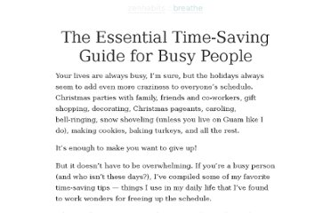 http://zenhabits.net/the-essential-time-saving-guide-for-busy-people/