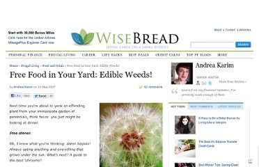 http://www.wisebread.com/free-food-in-your-yard-edible-weeds