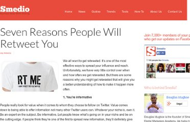 http://smedio.com/2010/03/29/seven-reasons-people-will-retweet-you/