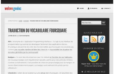 http://www.welovegeoloc.com/vocabulaire-foursquare/