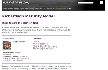http://martinfowler.com/articles/richardsonMaturityModel.html