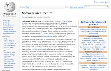 http://en.wikipedia.org/wiki/Software_architecture