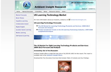 http://www.ambientinsight.com/Reports/LearningTechnology.aspx#section1