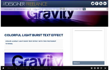 http://www.designerfreelance.net/colorful-light-burst-text-effect/