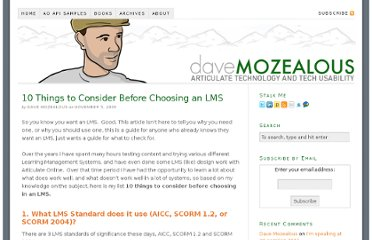 http://www.mozealous.com/11-things-to-consider-before-choosing-an-lms/