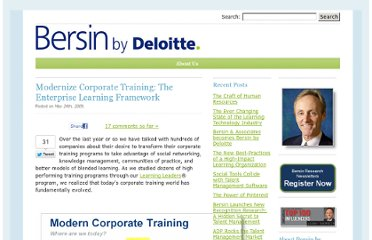 http://joshbersin.com/2009/05/24/modern-corporate-training-the-enterprise-learning-framework/