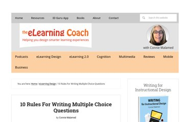 http://theelearningcoach.com/elearning_design/rules-for-multiple-choice-questions/
