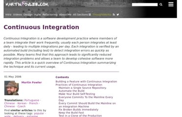 http://martinfowler.com/articles/continuousIntegration.html