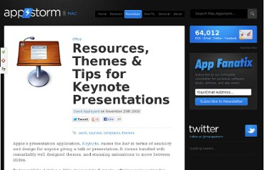 http://mac.appstorm.net/roundups/office-roundups/resources-themes-tips-for-keynote-presentations/