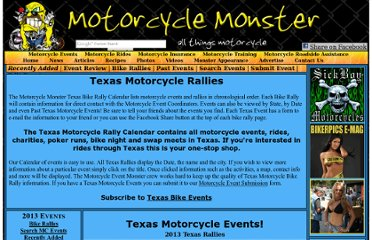 http://www.motorcyclemonster.com/events/state-Texas.html