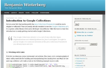 http://bwinterberg.blogspot.com/2009/09/introduction-to-google-collections.html