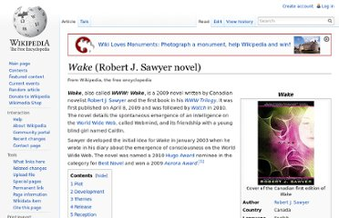 http://en.wikipedia.org/wiki/Wake_(Robert_J._Sawyer_novel)