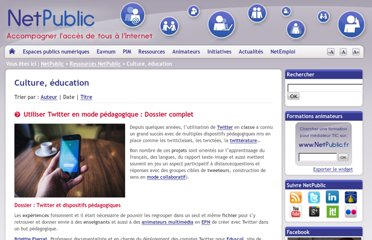 http://www.netpublic.fr/liste/ressources-netpublic/culture-education/