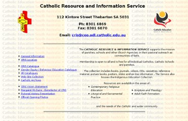 http://web.ceo.adl.catholic.edu.au/cris.html