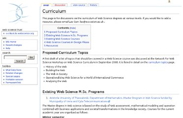 http://wiki.websciencetrust.org/w/Curriculum