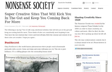 http://www.nonsensesociety.com/2010/09/super-creative-sites/