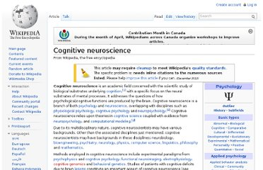http://en.wikipedia.org/wiki/Cognitive_neuroscience