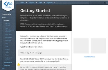 http://htmldog.com/guides/htmlbeginner/gettingstarted/