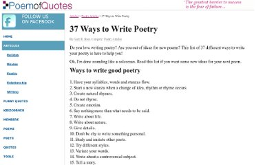 http://www.poemofquotes.com/articles/ways-to-write-poetry.php