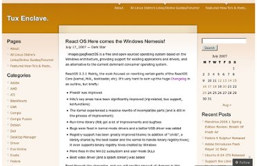 http://tuxenclave.wordpress.com/2007/07/17/react-oshere-comes-the-windows-nemesis/