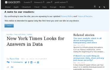 http://gigaom.com/2010/11/19/new-york-times-looks-for-answers-in-data/