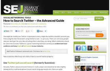 http://www.searchenginejournal.com/how-to-search-twitter-the-advanced-guide/8034/