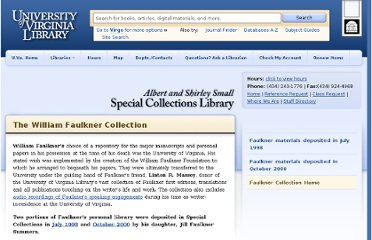 http://www2.lib.virginia.edu/small/collections/faulkner/