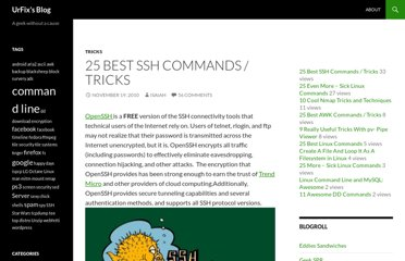 http://blog.urfix.com/25-ssh-commands-tricks/