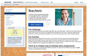 http://www.memonic.com/for/teachers