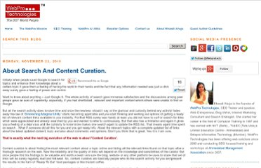 http://blog.webpro.in/2010/11/about-search-and-content-curation.html