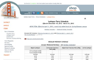 http://www.goldengateferry.org/schedules/Larkspur.php