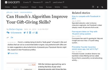 http://gigaom.com/2010/11/22/can-hunchs-algorithm-improve-your-gift-giving-skills/
