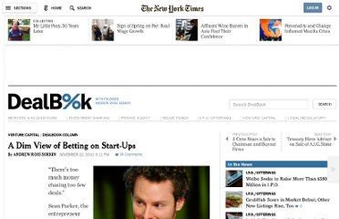 http://dealbook.nytimes.com/2010/11/22/a-dim-view-of-betting-on-start-ups/