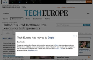 http://blogs.wsj.com/tech-europe/2010/11/18/linkedins-reid-hoffman-five-lessons-for-entrepreneurs/