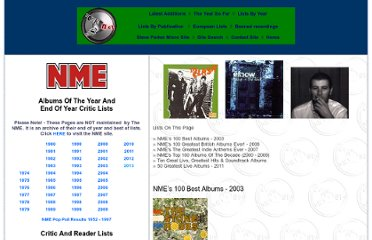 http://www.rocklistmusic.co.uk/nmes_100_best_albums.htm#Greatest%20Indie%20Anthems