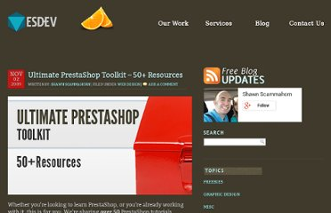 http://esdev.net/ultimate-prestashop-toolkit-50-resources/