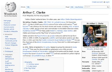 http://en.wikipedia.org/wiki/Arthur_C._Clarke#The_Big_Three
