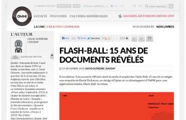 http://owni.fr/2010/11/24/application-flash-ball-15-ans-de-documents-reveles-police-leaks-upian-davduf/