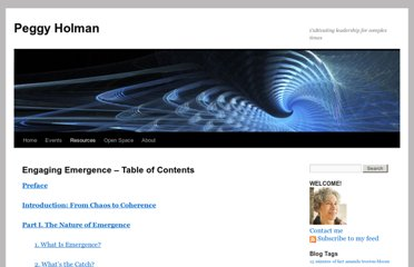 http://peggyholman.com/papers/engaging-emergence/engaging-emergence-table-of-contents/