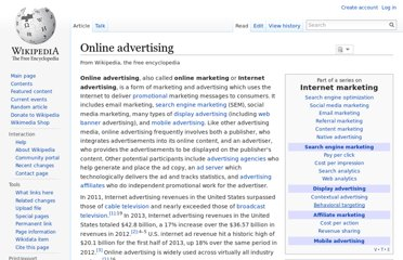 http://en.wikipedia.org/wiki/Online_advertising
