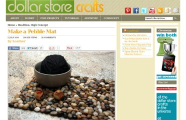 http://dollarstorecrafts.com/2010/07/make-a-pebble-mat/