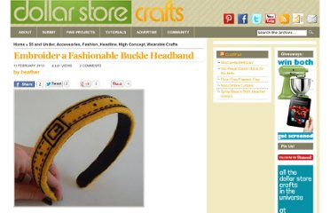 http://dollarstorecrafts.com/2010/02/buckle-headband/