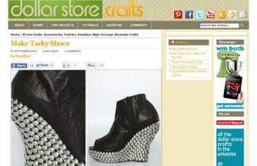 http://dollarstorecrafts.com/2009/09/make-tacky-shoes/