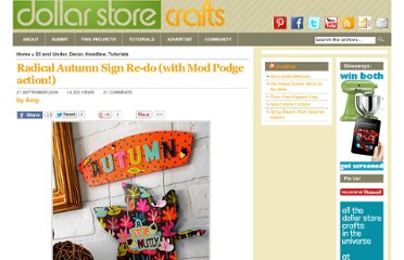 http://dollarstorecrafts.com/2009/09/autumn-sign/