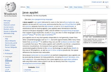 http://en.wikipedia.org/wiki/Java_applet