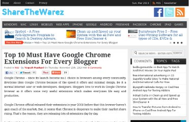 http://sharethewarez.com/top-10-must-have-google-chrome-extensions-for-every-blogger.html